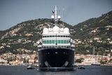 Superyacht Le Grand Bleu anchored off Saint-Jean-Cap-Ferrat