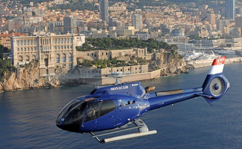 Monacair's Airbus Helicopter departing Monaco