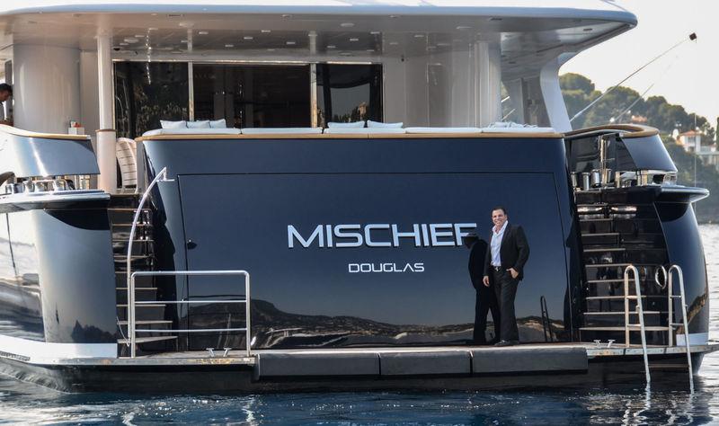 Ian Malouf onboard Mischief