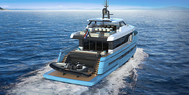 ADVENTURE 29 Project Rendering by Lynx Yachts