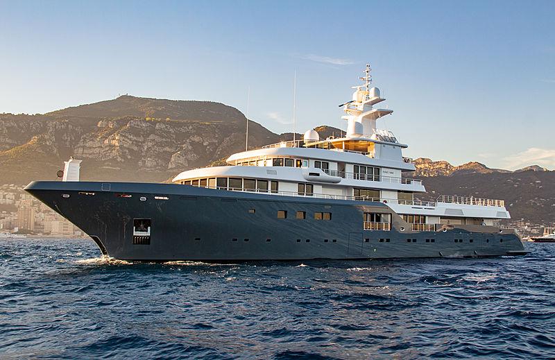 Planet Nine at anchor in Monaco