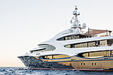 Barbara leaving the 2018 Monaco Yacht Show