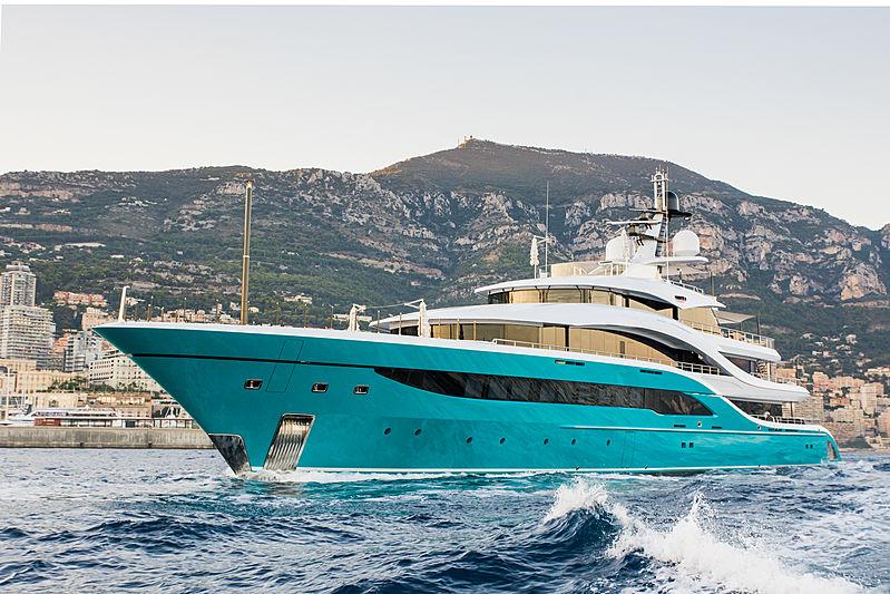 GO leaving the 2018 Monaco Yacht Show