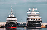 Superyachts Virginian and Leander G in Antibes
