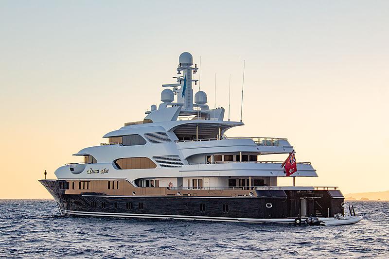 Martha Ann at anchor in Monaco