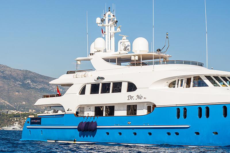 Dr No No anchored in Monaco