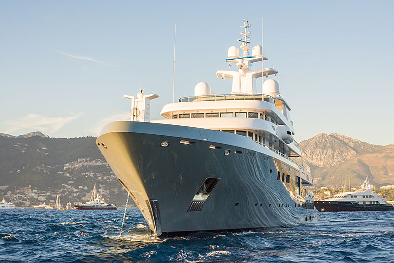 Planet Nine anchored in Monaco