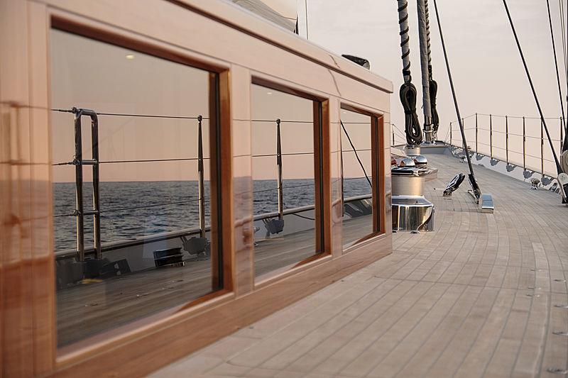 Aquarius at anchor - mid deck and main deckhouse