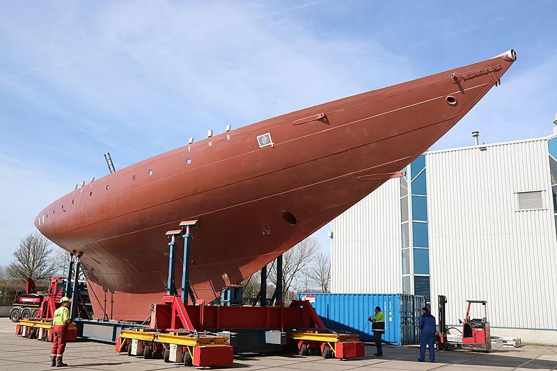 Sailing yacht Vagrant under refit at Royal Huisman