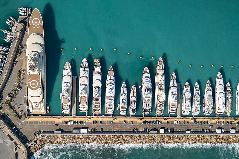 Yachts in Port Vauban, Antibes