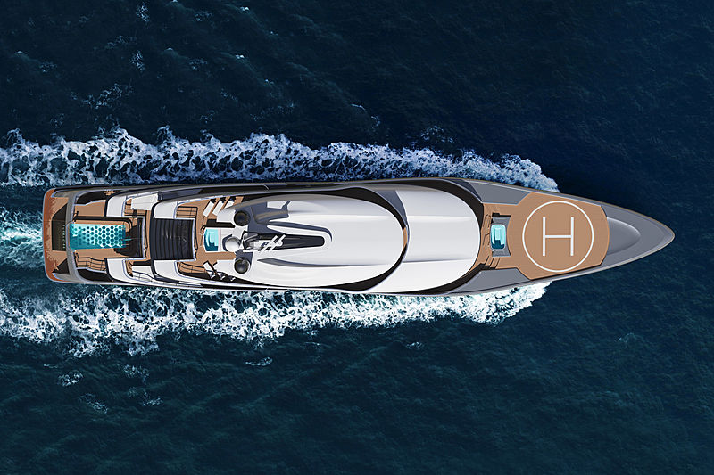 Turquoise Yachts 77m Quantum Profile Renderings