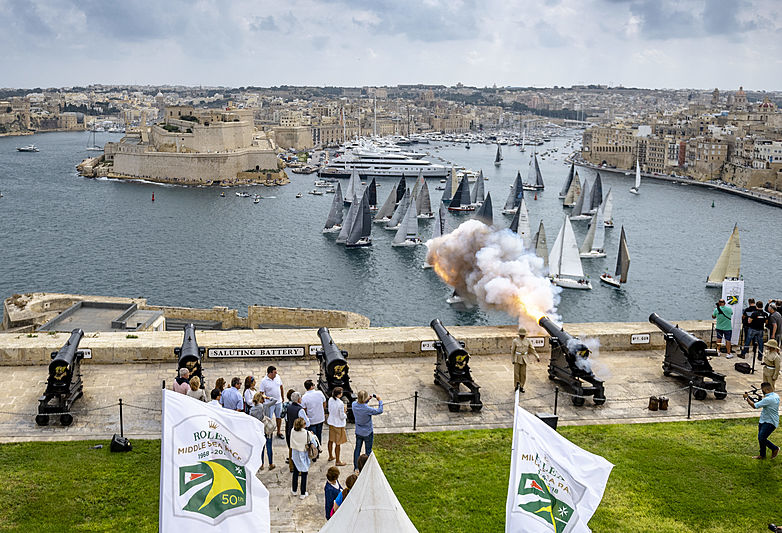 Superyachts in Malta for Rolex Middle Sea Race