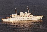 Princess Tanya anchored in Beaulieu