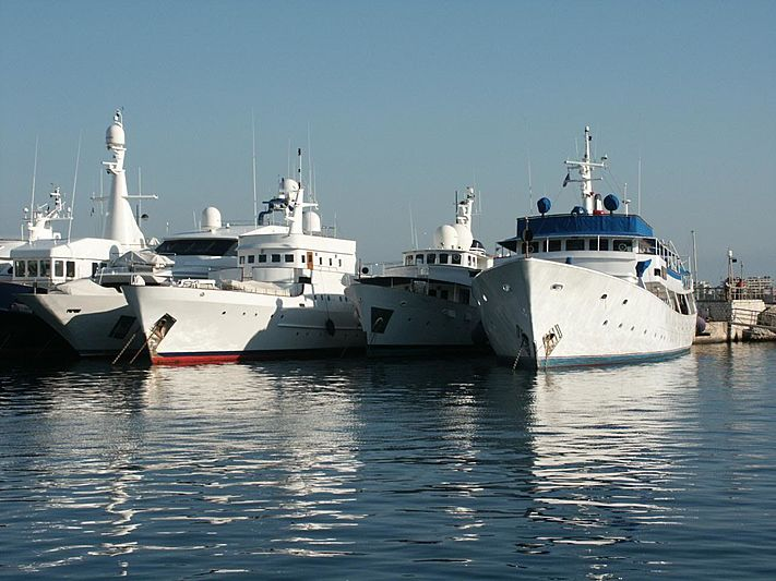 Land's End  and Albacora of Tortola in Cannes