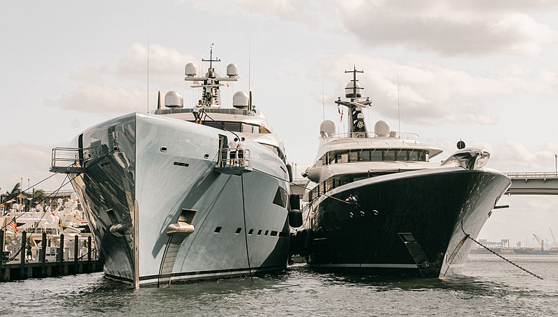 Phoenix 2 and Aviva during the 2018 Fort Lauderdale International Boat Show