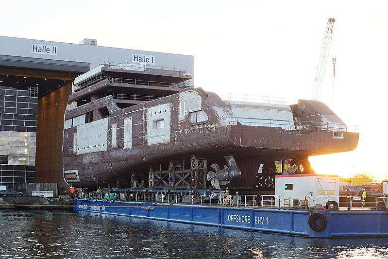 Project Solaris under construction at Lloyd Werft