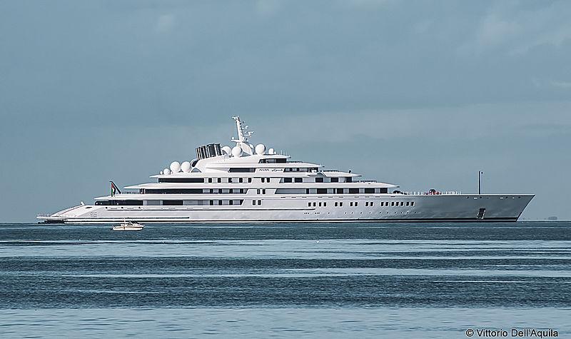 180m motor yacht Azzam in Trieste, Italy