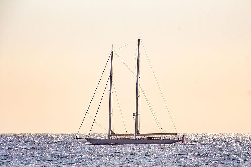 Athos yacht arriving in Monaco
