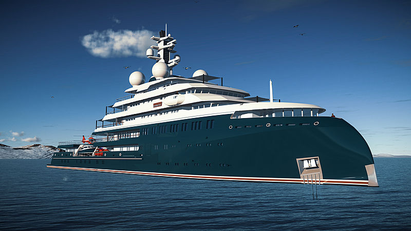 Icecap explorer yacht by Lürssen