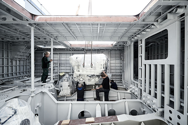 Project Castor hull and superstructure joined