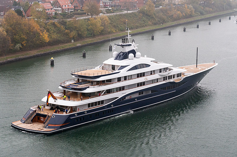111m TIS motor yacht by Lürssen on seatrials