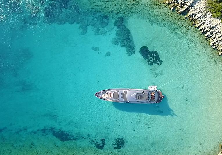 Pershing yacht Ginger in Turkey