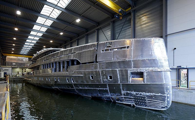 Heesen YN 19150 Project Electra in build in Oss