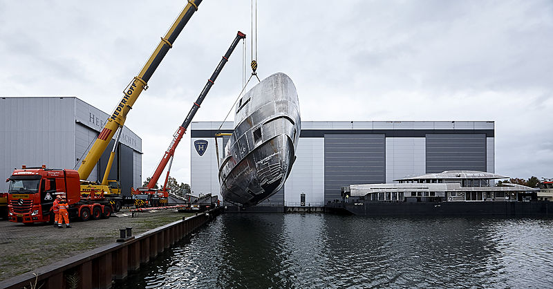 Heesen YN 19150 Project Electra in build in Oss