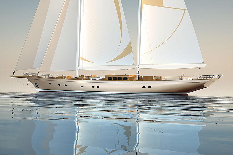 Mayra Yachts 46m sailing yacht rendering