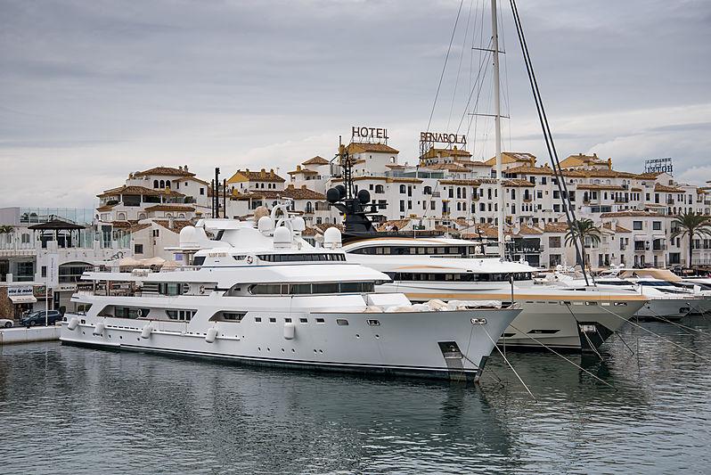 Superyachts Lady Haya and Taiba in Puerto Banus