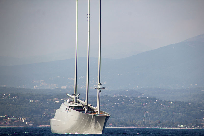 S/Y A off the coast of Antibes