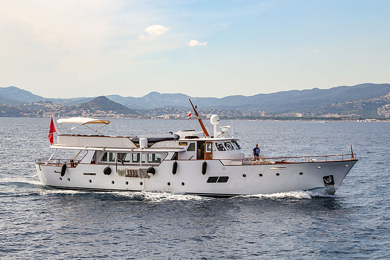Sissi yacht cruising in Cannes