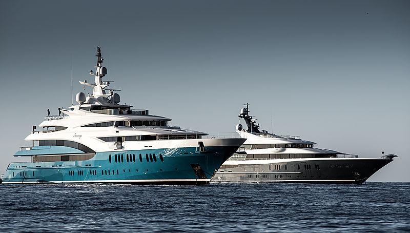 Sunrays and Phoenix2 motor yachts in Monaco