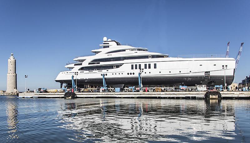 Benetti FB276 Metis yacht launch in Livorno