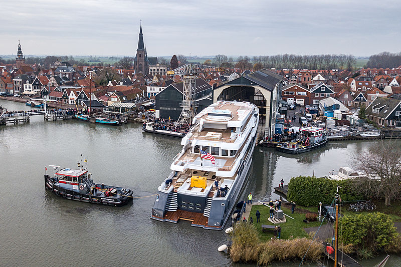 Scout yacht launch at Hakvoort