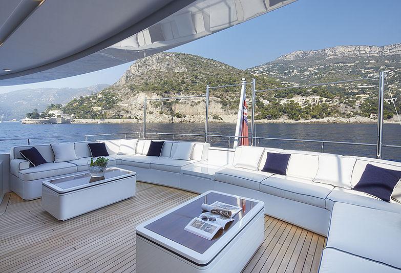 Forwin yacht upper aft deck