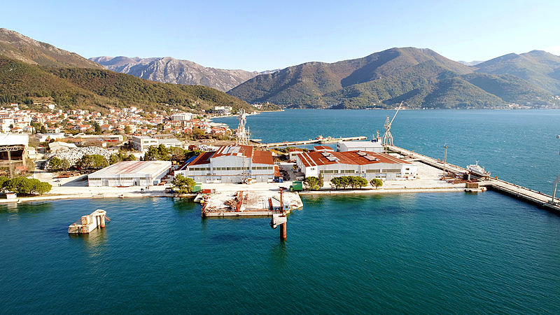 Bijela shipyard in Montenegro