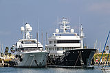 Larisa and Grand Rusalina yachts in Imperia