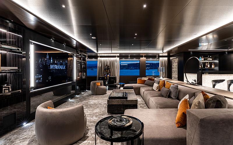 Solo yacht upper deck saloon