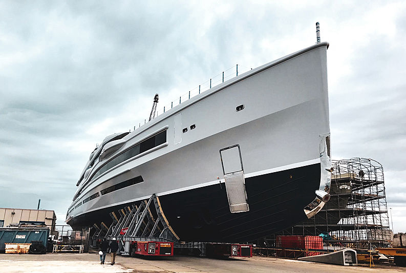 Benetti FB 277 yacht launch in Livorno