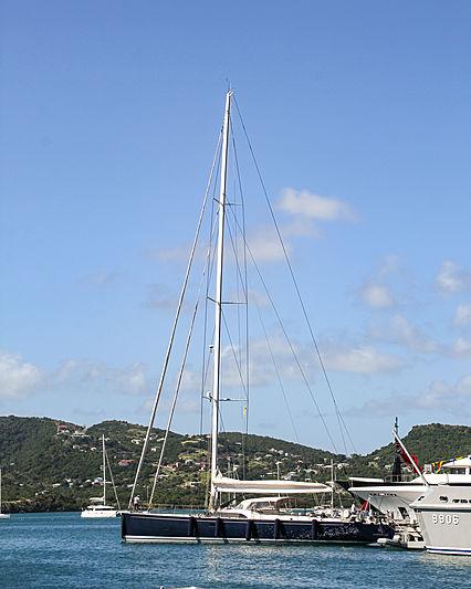 Farfalla yacht in Antigua