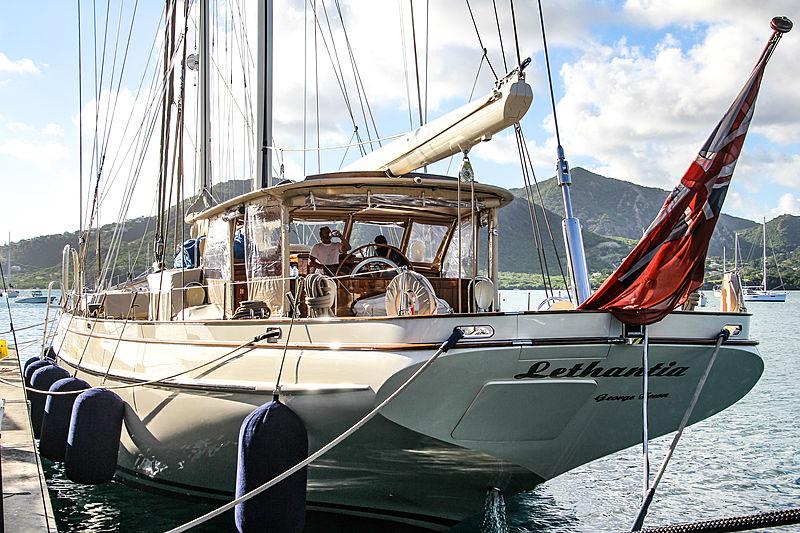 Lethantia yacht in Antigua