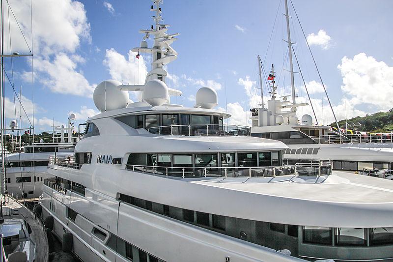 Naia yacht in Antigua