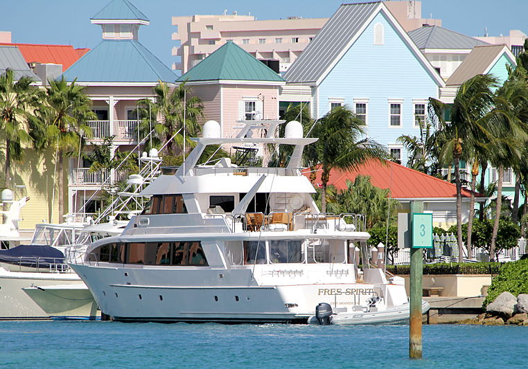Free Spirit yacht in Nassau Bahamas