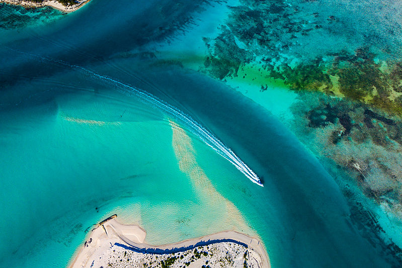 Aerial view of Cayo Largo