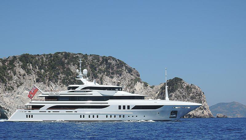 Genesis II yacht cruising off Zakynthos