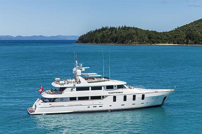 Silentworld yacht anchored