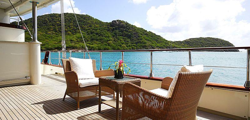Montigne sailing yacht outside decks
