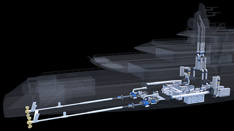 Hybrid propulsion feature in 102m Balance concept by Lateral