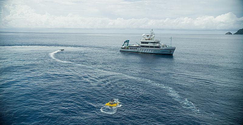 Alucia yacht in Cocos Islands